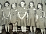 Brownie Troop 604 on the Arlie Haberle TV Show: Barbara George, Margo Morris, Camille Johnson, Pam Meyers, ?, Eloise Lou