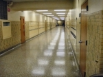 High School hallway - sure seemed the same.