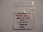 70th Birthday Celebration Pouch for 1943 Penny